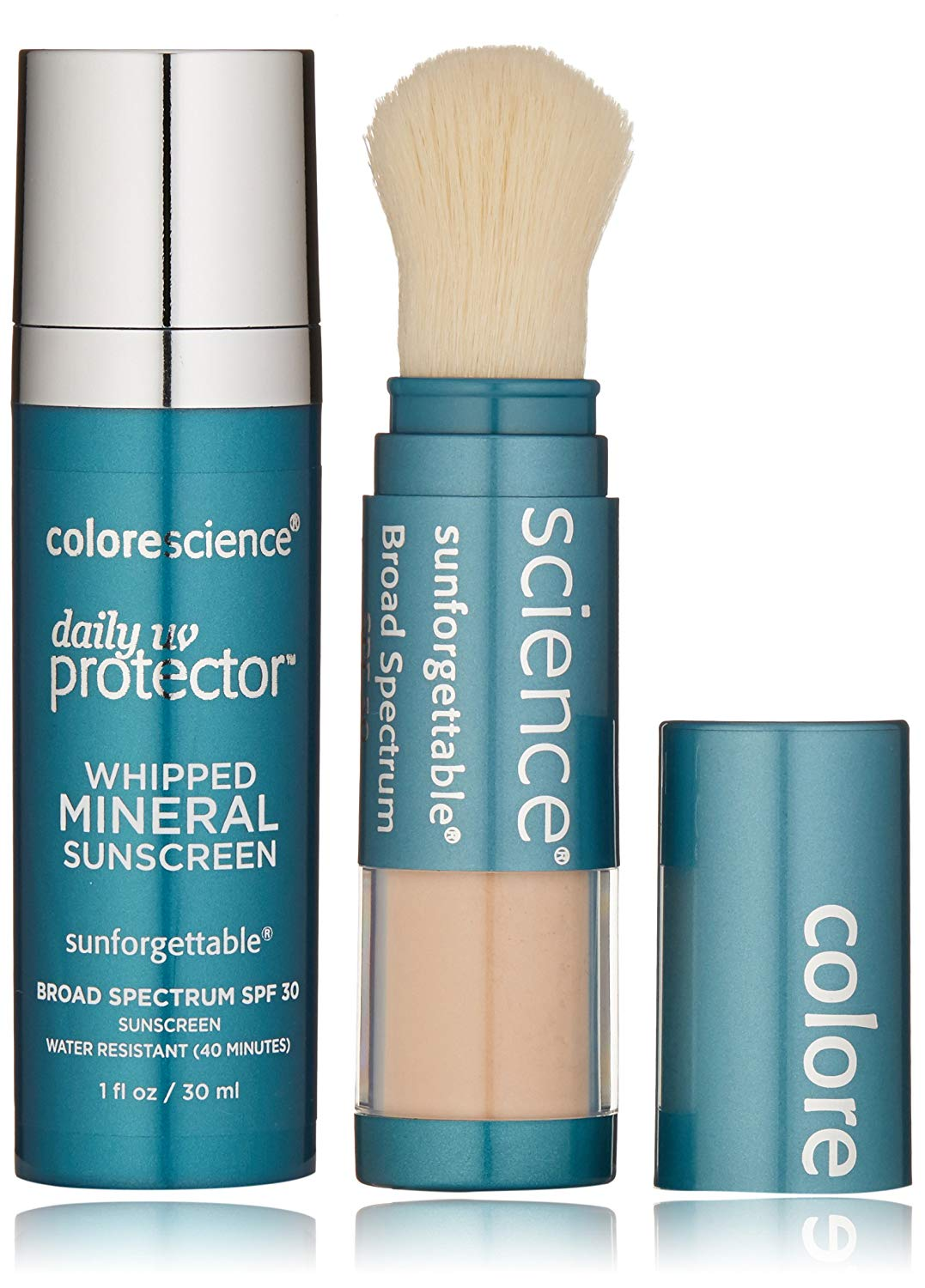 Colorescience Sunscreen Daily UV Essentials Whipped Mineral Sunscreen and Brush On Sunscreen Powder